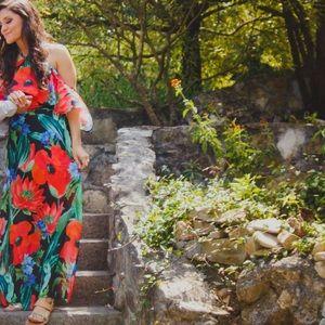 Colorful long dress